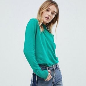 ASOS monki green crewneck sweater